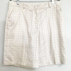 NEW Aspire Plaid Tan Bermuda Shorts Size 12